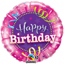 "Birthday Hot Pink Foil Balloon (18"") 1pc"